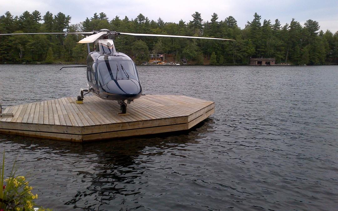 Floating Dock Helicopter Landing Pad Muskoka